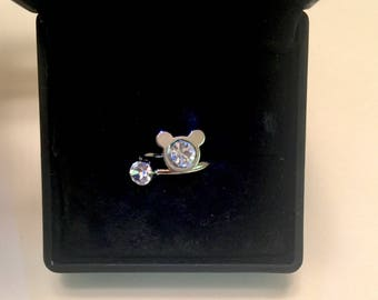 Mickey Mouse Ring Adjustable One Size Fits Most