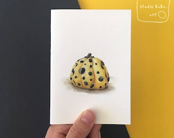 Yayoi Kusama Pumpkin Illustration Card == Fine Art Greeting Card of Original Watercolour Painting