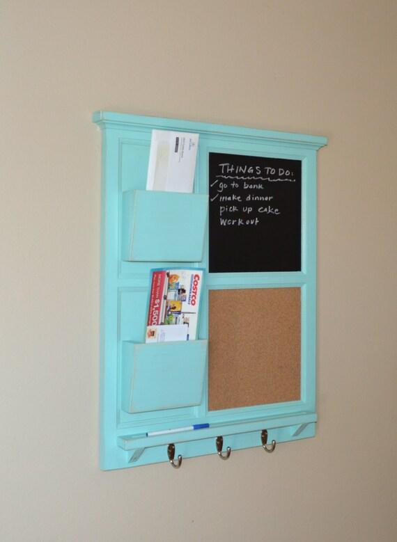 Two Mail Organizer Jamaican Sea Chalkboard Amp Cork Board With