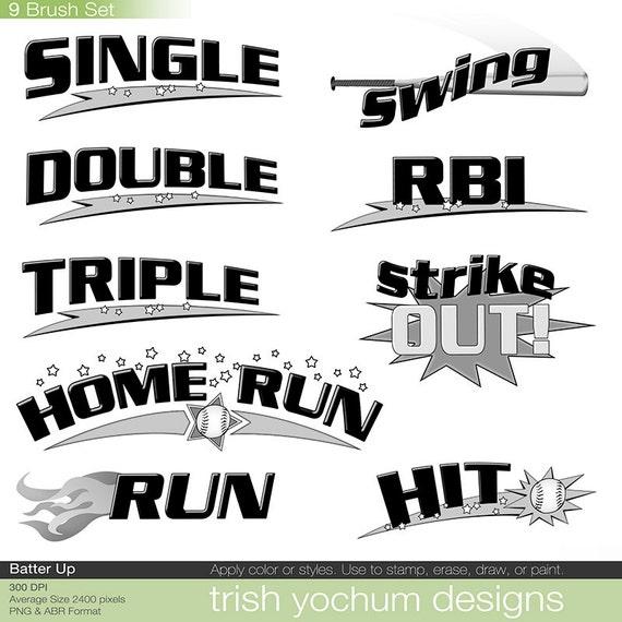 Single Line Word Art : Baseball clip art word digital softball png clipart
