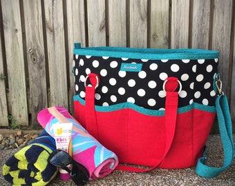 Tote bag pattern, Summer Lovin' Beach Tote, large tote bag, extra large bag, beach bag pattern, overnight bag pattern, oversized bag