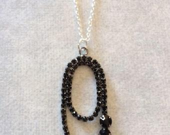 Black jet necklace etsy black jet necklace black jet bead necklace jet jewelry jet necklace jet stone pendant black stone necklace black necklace aloadofball Images