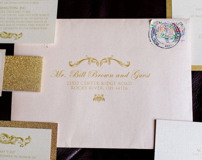 5x7 Wedding Event Calligraphy Guest Address & Return Address Envelope Printing, ENVELOPES INCLUDED, More Colors and Sizes Available