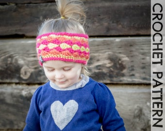 CROCHET PATTERN - Mogul Mountain Headband - Kids to Adults