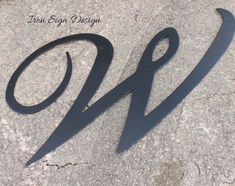 Extra large outdoor letter sign, home decor, Wall letter, Barn decor, garage decor, metal letter, black metal letter