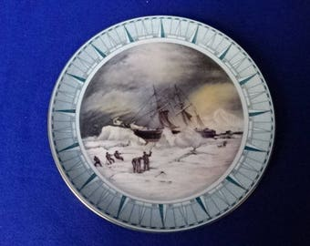 Spode Fine Bone China Decorative Plate/Spode China/Vintage Spode/China Plate/Old Boats/Wall Plate/Home Decor/Gifts