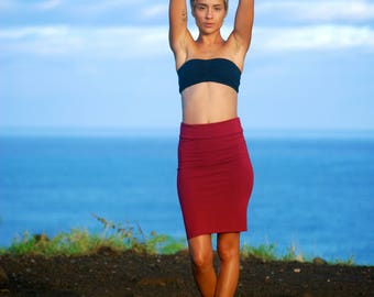 Pencil Skirt - Tube Skirt - Gray Jersey - Several Colors Avialble - Eco Friendly - Organic Clothing