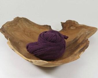 Dark Purple Newborn Wrap Photo Props, Purple Stretch Wrap, Swaddling Wraps, Knit Baby Wraps, Baby Girl Photography Props, ELDERBERRY DREAM