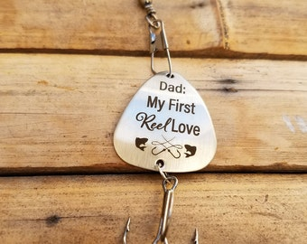 Father of Bride Gift, Dad My First Reel Love Fishing Lure, Dad Christmas Gifts, Dad Birthday Gifts, Unique Fishing Lure,