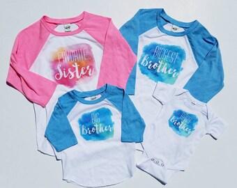 Pregnancy Announcement Shirts - Sibling Shirts - New Baby Photos - Biggest Brother Shirt - Favorite Sister Shirt