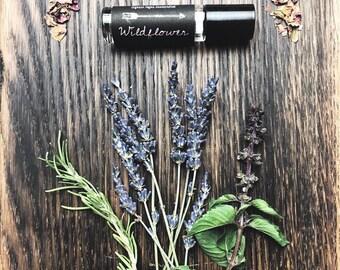 Wildflower Perfume - Natural Botanical Fragrance - Roll On Vegan Oil Perfume 1/3 oz.