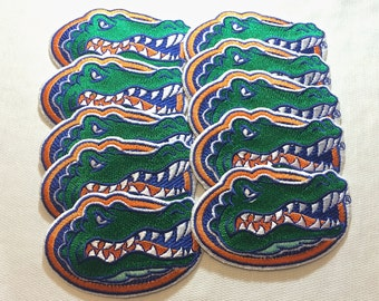 Florida Gators Embroidered Iron on patches * 2 different sizes to Choose .Great for crochet projects, clothing and hats