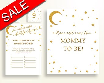 How Old Was Mommy Baby Shower How Old Was Mommy Stars Baby Shower How Old Was Mommy Baby Shower Stars How Old Was Mommy Gold White RKA6V