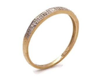 Diamond Wedding Band, Eternity Band, Diamond Band Ring, Pave Diamond Band, Engagement Band, Stackable Band, Gold Wedding Band