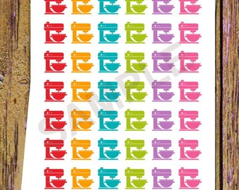 42 Stand Mixer Planner Stickers Stand Mixer Stickers Functional Stickers Icon Planner Baking Stickers Baking Planner Stickers Cooking A128