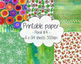 Printable paper: Floral set #4