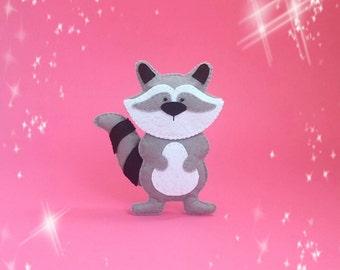 Felt raccoon Plush raccoon Stuffed raccoon Toy raccoon Ornaments raccoon Soft raccoon Woodland raccoon Cute raccoon Baby toy raccoon decor
