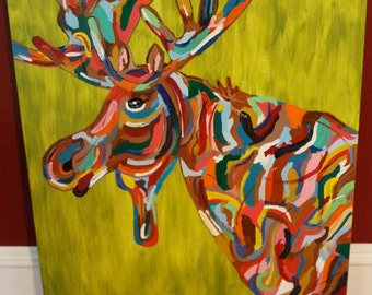 Moose Print on a Wrapped Canvas