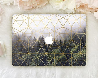 MacBook Wood Case Macbook Pro 13 Hard Case Macbook Air 13 inch Hard Case Geometry Macbook Pro Retina 15 Macbook 12 Laptop Hard Case YZ5024