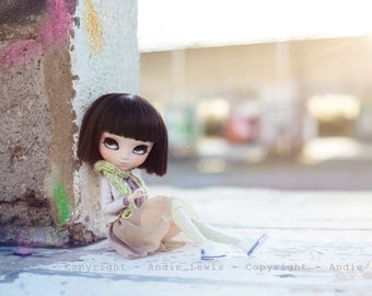 "Tirage simple 10x15cm ""Soleil Urbain"" - Pullip Isul Dal photographie, doll art collection, impression deco no BJD no Blythe"
