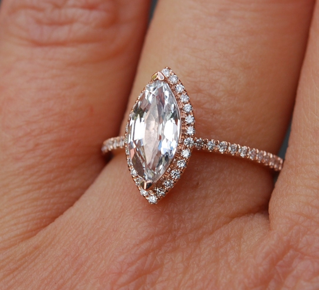 marquise wedding rings marquise engagement ring gold ring 5722