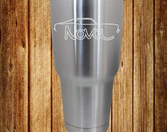 70-72 Chevy Nova Etched 30 Oz. Ozark Trail Stainless Steel Cup, Etched Cup, Etched Tumbler
