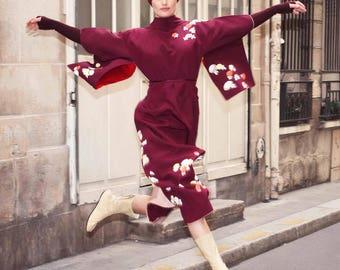 Kimono dress naked shoulders