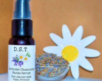 Lavender and Chamomile Facial Serum With DMAE and MSM (Vegan Friendly)