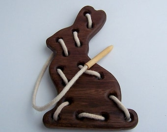 Chocolate Bunny Lacing Toy