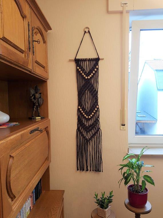 Lange makramee wandbehang makramee wand boho dekor wand - Makramee wandbehang ...