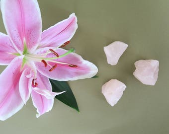 Rose Quartz Crystal Chunk Trio