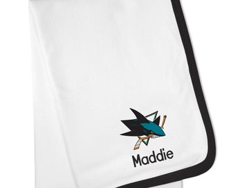 Personalized San Jose Sharks Baby Blanket