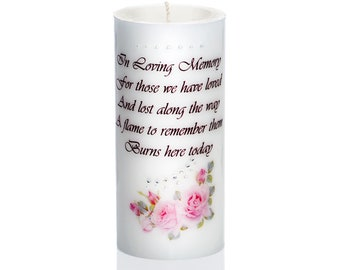 Sam & Wishbone Customized Luxury Wedding Memorial Candle from the Rose Collection