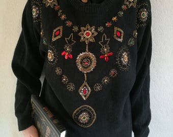 Vintage beaded jumper/ sweater