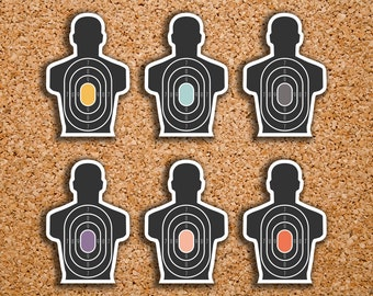 42 Target Silhouette, Range Day, Gun, Shooting, Practice Icon Planner Stickers for 2017 Inkwell Press IWP-DC85