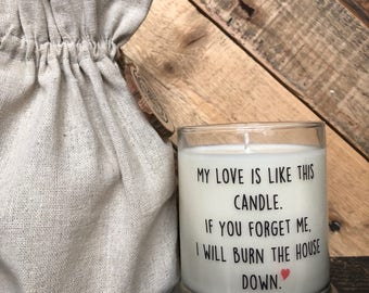 My Love Is Like This Candle / valentines gift / Husband Gifts  / Custom Candle / Valentine Gift / Girl Friend Gifts / Boyfriend gift /