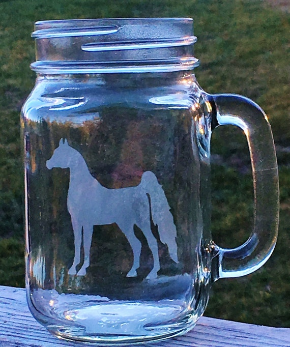 Arabian Horse, Etched Drinking Glass, Horse Gift, Arabian, Birthday Gift, Hostess Gift