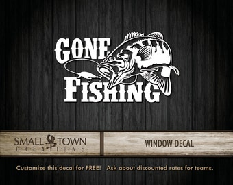 Gone Fishing vinyl decal [This is not a downloadable SVG file]