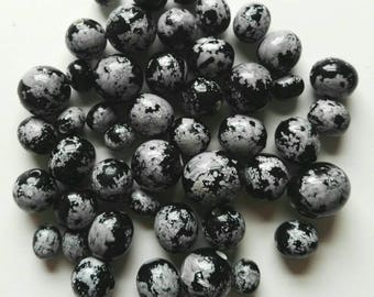 45 Black and Grey Acrylic Beads 9-15mm mix
