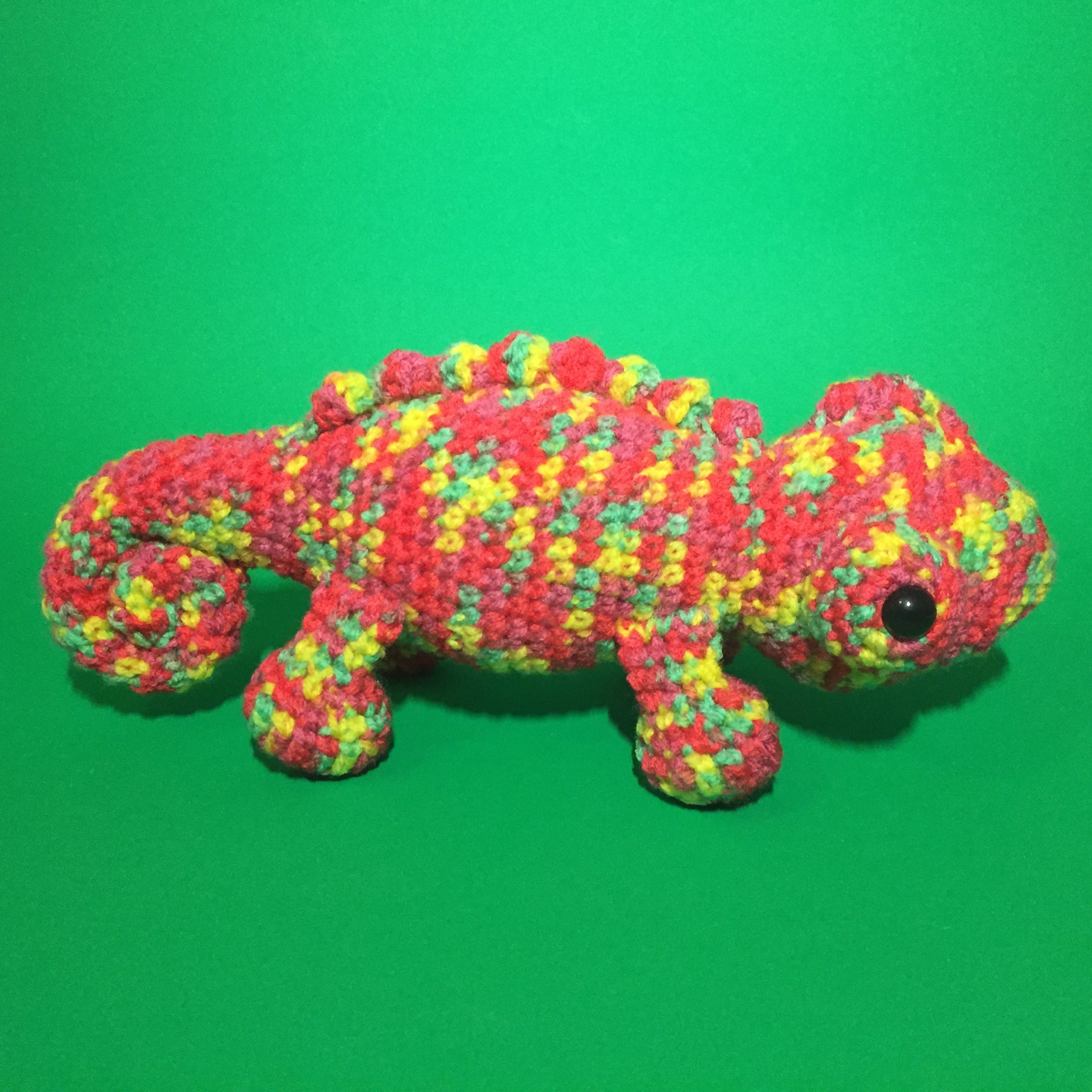 Pablo the Chameleon Crochet Pattern//PDF
