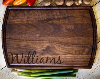 Personalized Cutting Board, Custom Cutting Board, Last Name, Wedding Gift, Anniversary, Bridal Shower Gift, Kitchen Decor #3135