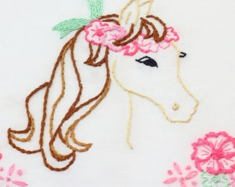 Horse Embroidery Pattern Horse Design Horse Embroidery Design