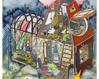 The Wizard's House (Limited Edition Giclee Art Print)