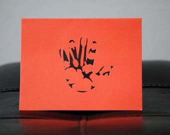 Thanksgiving cut paper greeting card
