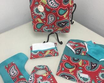 Reversible Doll Diaper Bag Set Free Shipping
