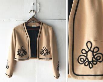 1960's Cropped Bolero Jacket   Vintage Women's Blazer   Women's 60's Jacket