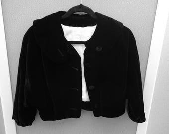 Black Silk Velvet Jacket