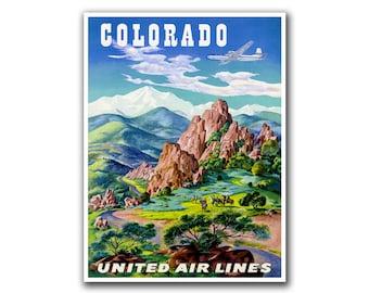 Retro Travel Art Colorado Sports Poster Home Decor Vintage Print (H111)