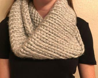 Knit Chunky Gray Cowl