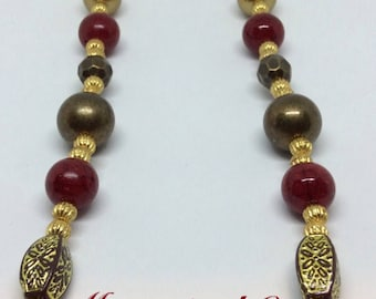 Rustic Red Necklace